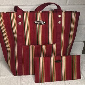Pinstripe Longaberger Tote and Wallet